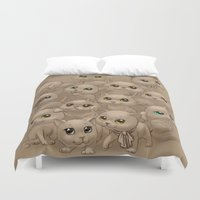 kittens Duvet Covers featuring Kittens by Antracit