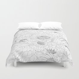 King and Queen Proteas Duvet Cover