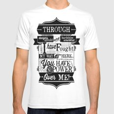 Labyrinth Quote You Have No Power Over Me Mens Fitted Tee White MEDIUM