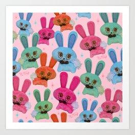 Cute Fluffy Bunnies Art Print