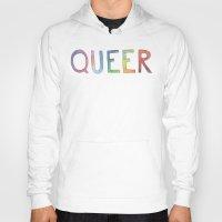 queer Hoodies featuring queer rainbows by ElenaM