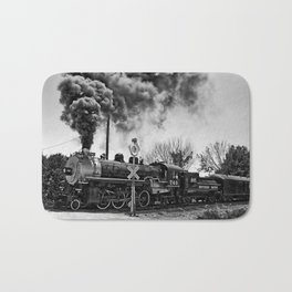 Southern Pacific Steam Locomotive Near Kearney & Liberty Missouri Bath Mat