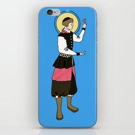 Patron Saint of Tiny Fat Birds iPhone Skin
