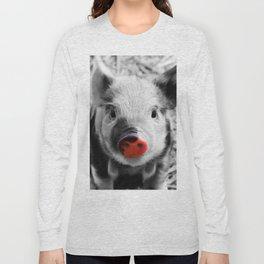 BW splash sweet piglet Long Sleeve T-shirt