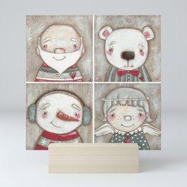Big Happy Face for Christmas Mini Art Print