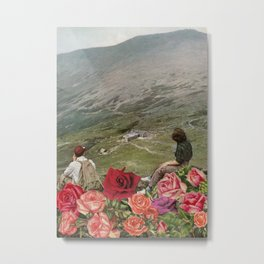 Life is a Bed of Roses Metal Print