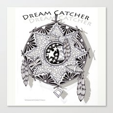 Zentangle Dreamcatcher Canvas Print