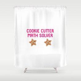 Cookie Math Solver Funny Christmas Teacher Shower Curtain