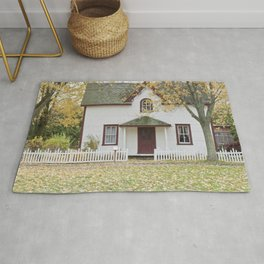 View from outside a house in a suburb Rug