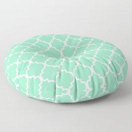 Moroccan Trellis (White & Mint Pattern) Floor Pillow