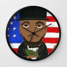 President Lincoln Wall Clock