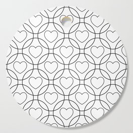 Decor with circles and hearts Cutting Board
