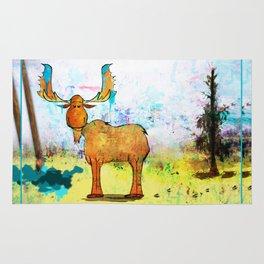Blue Moose on the Loose ~Ginkelmier Rug
