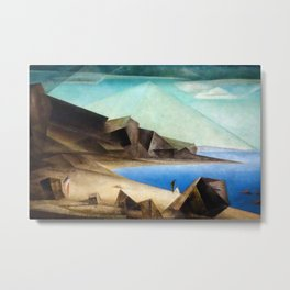 The High Shore by Lyonel Feininger Metal Print