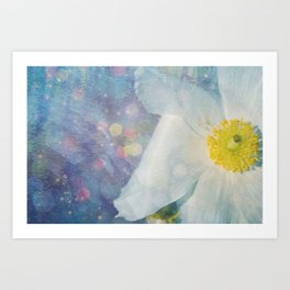 Blue.d.iful flower Art Print