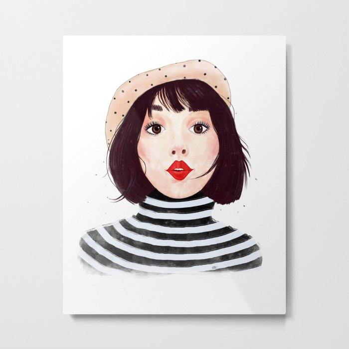 French woman Metal Print