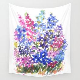 Blue Delphinium Garden Wall Tapestry