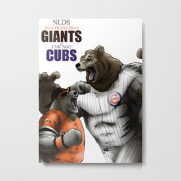 NLDS: GIANTS at CUBS Metal Print