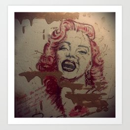 Makeup Marilyn Art Print