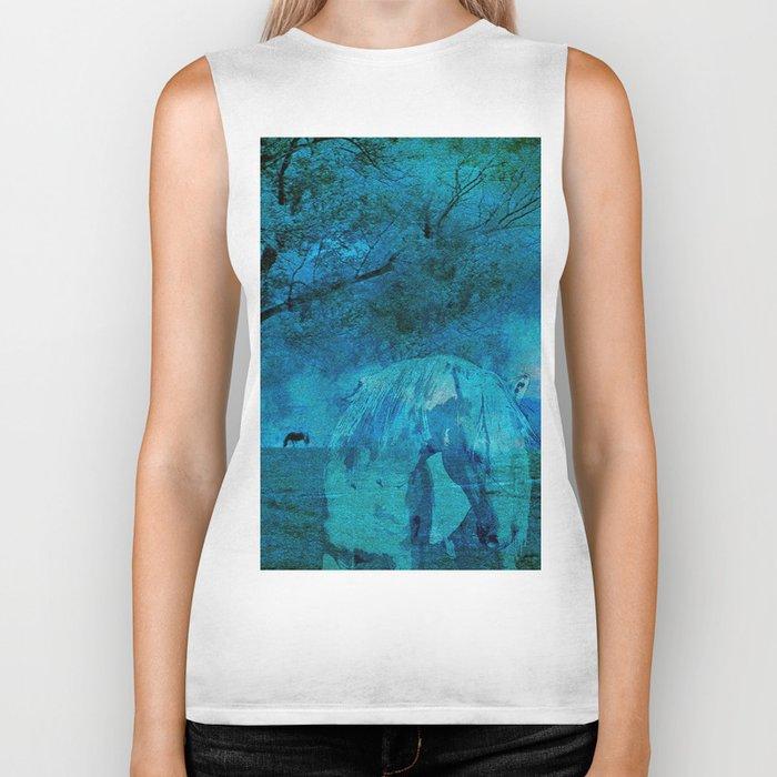 DREAM HORSE BLUE Biker Tank