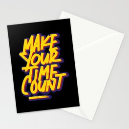 Make your time count | time is money Stationery Cards