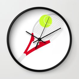 Tennis racket and tennis ball Wall Clock