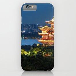 Buddhist temple riverside, China iPhone Case