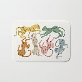Rainbow Cheetah Bath Mat