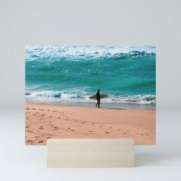 Bronte Beach Surfer. Sydney. Australia. Mini Art Print