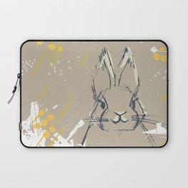 Bunny Portrait M+M Latte by Friztin Laptop Sleeve