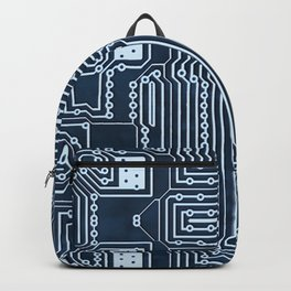 Blue Geek Motherboard Circuit Pattern Backpack