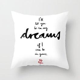 Dreams-White Throw Pillow