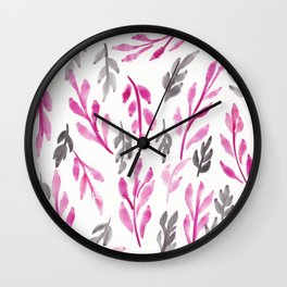 180726 Abstract Leaves Botanical 3|Botanical Illustrations Wall Clock