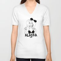rupaul V-neck T-shirts featuring Alaska by Payden Evans