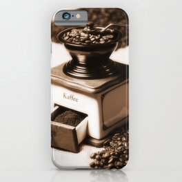 Coffee grinder iPhone Case