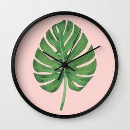 SWISS CHEESE PLANT 03, by Frank-Joseph Wall Clock