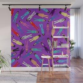 Purple Pattern 2 Wall Mural