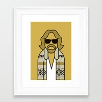 the dude Framed Art Prints featuring Dude by Ale Giorgini