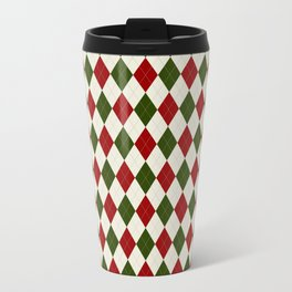 Christmas Argyle Travel Mug