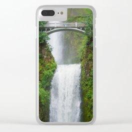 Multnomah Falls - Summer Oregon Waterfall Clear iPhone Case