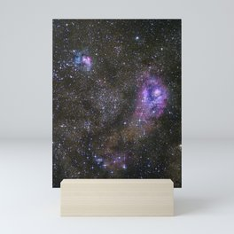 Lagoon and Trifid Nebula in Sagitarius Mini Art Print