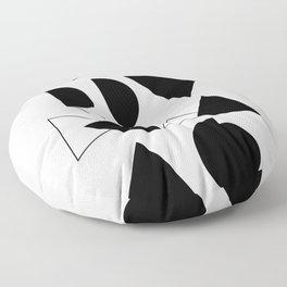 Merry Xmas - Geometric Typo Floor Pillow