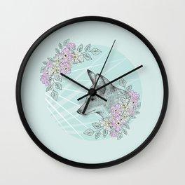 Pastel Fox Wall Clock