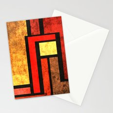 Red Yellow Orange Stationery Cards