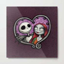 Jack & Sally Metal Print