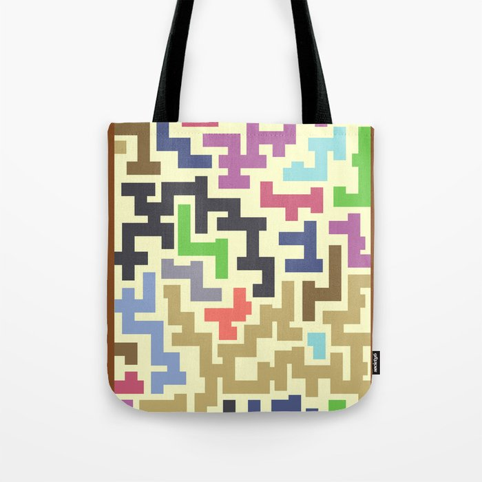 Colorful Maze IV Tote Bag