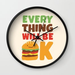 Feed Your Feelings Wall Clock