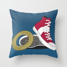 Sonic Converse - Blue Throw Pillow