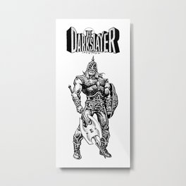 The Darkslayer, Black and White Metal Print