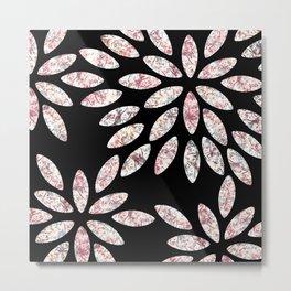 Marbled Flowers Pattern Metal Print